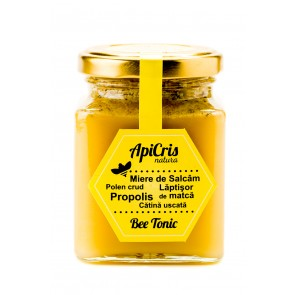 Energizat apicol - Bee Tonic 250g(miere de salcam cu polen,propolis,laptisor de matca, catina)